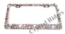 LICENSE PLATE FRAME CRYSTAL DIAMOND RHINESTONE BLING SPARKLE CUSTOM MIX AB CLEAR