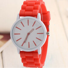 Unisex Women Mens Silicone Rubber Sports Simple Quartz Analog Wrist Watches HOT