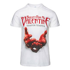 Official T Shirt BULLET FOR MY VALENTINE White BLOOD HANDS Band Tee All Sizes
