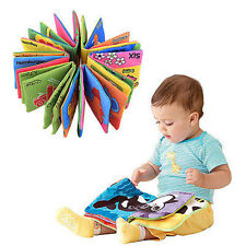 Kid Baby Intelligence Development Cloth Fabric Cognize Book Educational Toy New