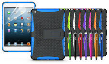 Heavy Duty Hybrid Rugged Dual Layer Grip Kickstand Cover For Apple Ipad Mini 4
