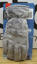 NWT HEAD Jr ThermalFUR Fleece Gloves,Size M Child Kids (Ages 7-10),Silver Furry