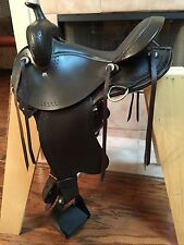 "16"" TN Saddlery Gaited Western ""Trail Rider"" Saddle Brown Improved"