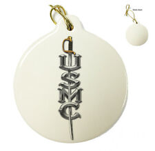 Marines USMC Sword Christmas Xmas Tree Porcelain Ornaments