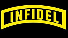 Infidel T-shirt Logo on Front or Left Chest Military Tee Infidel Anti Muslim Tee
