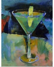 Poster Print Wall Art entitled Sour Apple Martini