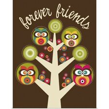 Poster Print Wall Art entitled Forever Friends Owls