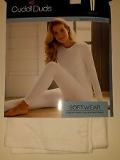 Cuddl Duds SOFTWEAR White Warm Layer Legging NEW SofTech Fabric Nylon Cotton Ski