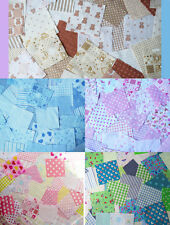 Nursery fabric. 25 Patchwork squares 4 x 4. Baby Pink, Blue, Beige. 5 Choices!!