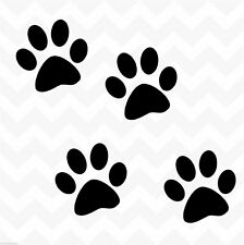 Dog paw prints vinyl wall stickers decals set of 4 suit wall car floor kennel