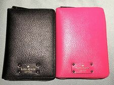 NWT Kate Spade Wellesley Zip Around Personal Organizer Planner 2016 Black Pink