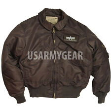Made in USA CWU Alpha Industries US Army Pilot Flight Military Bomber AF Jacket