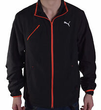 Puma Men's Athletic Black Off Sides Full Zip Track Jacket