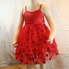 NEW CLEARANCE Girls Formal Dress Double Layers Singlet Dress in Red-Cream-Black