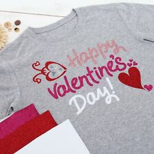 "GLITTER HEAT TRANSFER VINYL BY THE YARD 20"" WIDE EASY WEED 36 COLORS - THREADART"