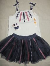 Gymboree 4TH JULY Red White Blue Star Stripe Ribbon Tank Tutu Skirt Hair NWT