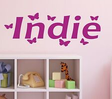 Personalised Name BUTTERFLY Wall Art Boys or Girls Room Childrens Sticker NO2