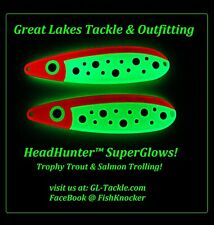 HeadHunter™ Super Glow - Big Trout & Salmon Trolling Spoons!!!
