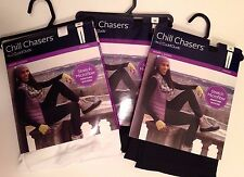 2x 3X leggings Chill Chasers Cuddl Duds moisture wicking Black White warm layers