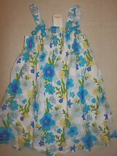 Gymboree SEA SPLASH Blue Green Yellow Fish Floral Smocked Dress Summer 5T NWT
