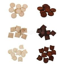 10x Antique Wooden Cameo Cabochon Setting Base/Tray Pendants DIY Necklace Making