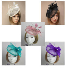 Feather Headband Fascinator Wedding Women Hairband Alice Band Hair Accessory