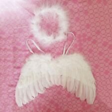 0-12M Newborn Infant Baby Kids Angel Feather Wings Halo Photo Props Costume Gift