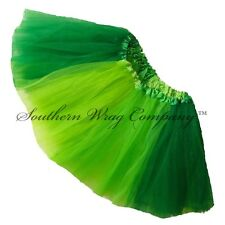 ST PATRICKS DAY TUTU TRI-GREEN GIRLS TEENS ADULTS LENGTH 11 by Southern Wrag Co