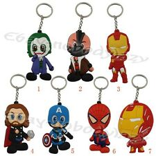 Super Hero Justice League IronMan Spiderman Thor Joker Bane Key Ring Chain