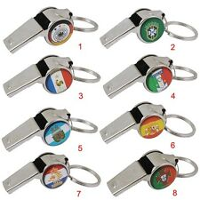 2014 FIFA  World Cup Brazil Netherland Italy Argentina Whistle Metal Key Ring
