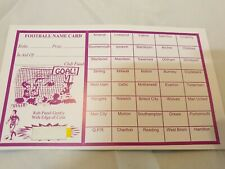 Fundraising Football Charity Event Scratch Cards 40 Team