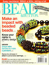 BEAD & BUTTON BEADING MAGAZINE VG++ PREOWNED- CHOOSE 1- CHOICE OF 1 ISSUE