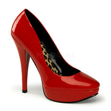 PinUp Couture HARLOW-01 Platforms Red Patent Sexy Classic Pump High Heels