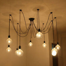 6/8/10 Heads Vintage Industrial Pendant Ceiling Edison Chandelier Light Shade