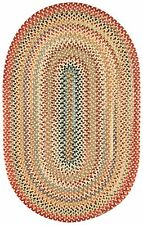 Capel Rugs Portland Wool Casual Country Braided Quality Oval Throw Rug Gold #100