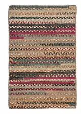 Colonial Mills Olivera Rectangle Cotton Country Braided Rug Cranberry Blend OV79