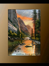 Handmade Classical Landscape Abstract Oil Painting repro on Canvas Wall Art-G108