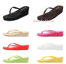 FLIP FLOPS NEW LADIES WOMENS GIRLS BEACH WEDGE FLIPFLOPS SANDALS SHOES ALL SIZES