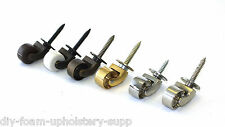 "Solid Brass screw plate castors 1""  25mm Antique, modern, reproduction furniture"
