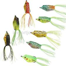 TOPWATER 3D EYES FROG HOLLOW BODY FISHING LURE CRANKBAIT BASS HOOK TACKLE TOOL
