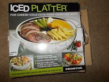 PRODYNE Iced Platter IC-10 For Cheese, Cold Cuts, Fruit and More NEW IN BOX