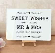 Wedding Sweet Table Candy Bar Sweet Wishes Table Sign Metal