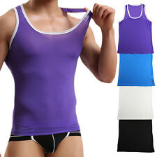 New Men's Sports A-Shirt Muscle Wife Beater Tank Top Sleeveless T Bodybuilding
