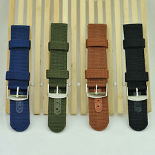 Militray Army Nylon Canvas Wrist Watch Band Strap #G 18mm 20mm 4 Color Hot Sale