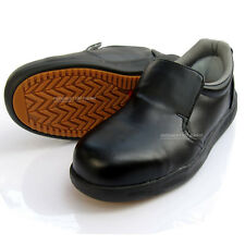 Men's Chef Shoes Safety Hard Toe Cap work oil resistant Non-Slip Made in Korea