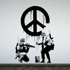 BANKSY GRAFFITI Wall Art Sticker CND Peace Sign Soldiers Vinyl Stickers decal