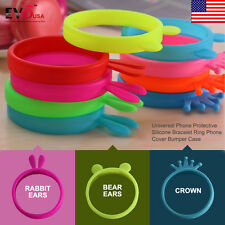 Universal Soft Silicone Phone Bumper Frame Cover Case Bracelet For Various Phone