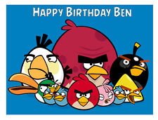 Angry Birds Personalised Cake Topper A4 Wafer paper/Icing sheet