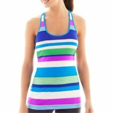 Xersion Racerback Singlet Purple Stripe Multi Tank Top Size S New With Tags