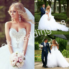 New 2016 Wedding Dress Bridal Gown Strapless Proms Deb Party Ball Pageant Dress